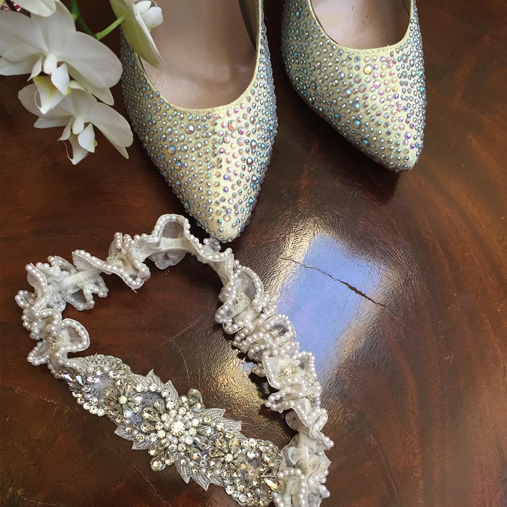 Crystal Heirloom Wedding Garter